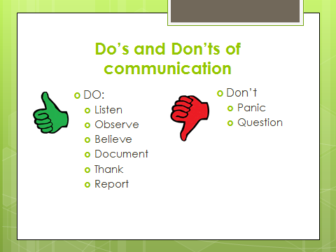 dos and donts of communication